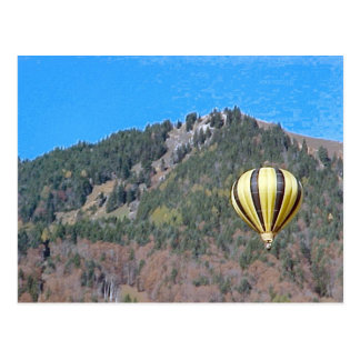 Hete luchtballon in Bernese Oberland Briefkaart
