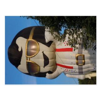 Hete luchtballon in Binghamton, NY Briefkaart