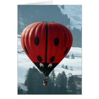 hete luchtballon in Zwitserland Wenskaart