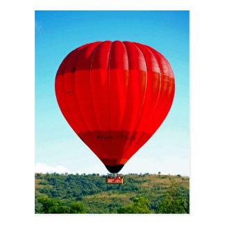 Hete luchtballon om het leven te vieren briefkaart