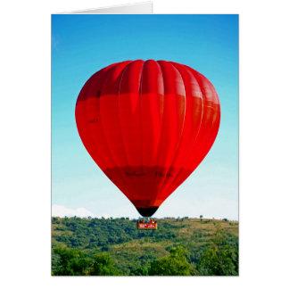Hete luchtballon om het leven te vieren wenskaart
