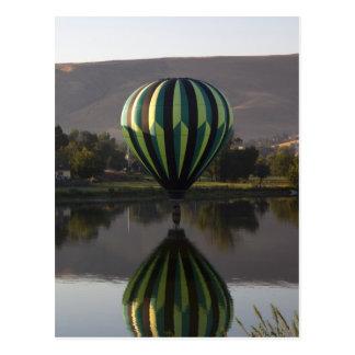 Hete luchtballon over de Yakima Rivier 2 Wens Kaart