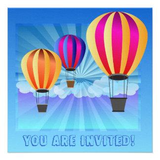 hete luchtballon persoonlijke uitnodiging