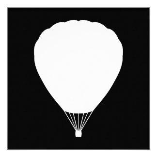 hete luchtballon gepersonaliseerde uitnodigingen