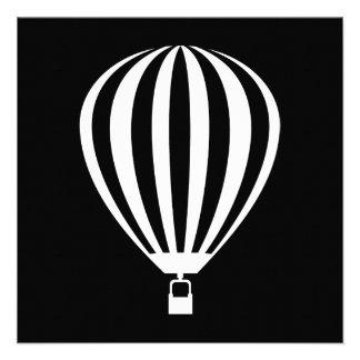 hete luchtballon persoonlijke aankondiging