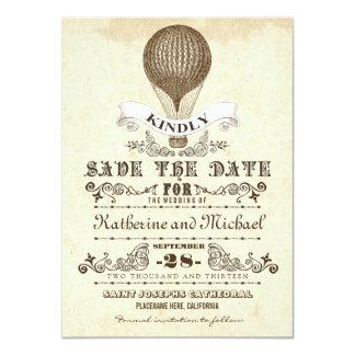 hete luchtballon uniek sparen de datumkaarten 11,4x15,9 uitnodiging kaart