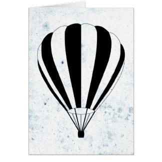 hete luchtballon wenskaart