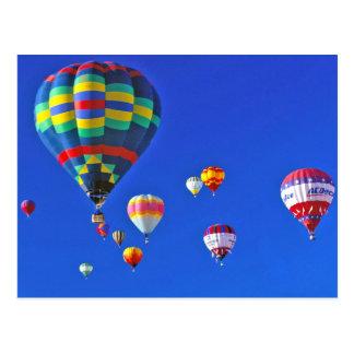 hete luchtballons briefkaart