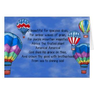 Hete luchtballons notitiekaart