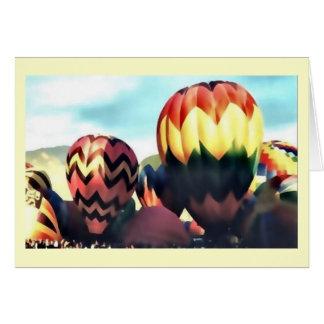 Hete luchtballons wenskaarten