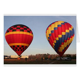 Hete luchtballons, Orlando, Florida, de V.S. 3 Wenskaart