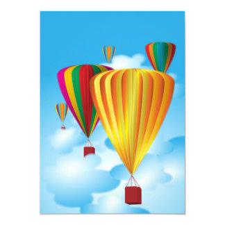 Hete luchtballons uitnodigingen
