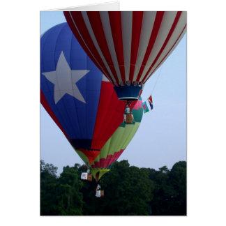 hete luchtballons wenskaart