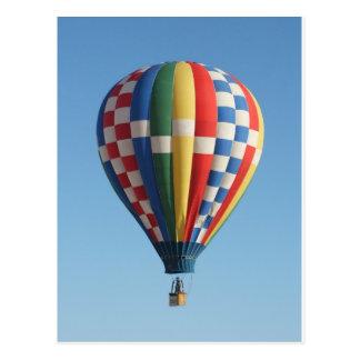 Hete multicolored luchtballon briefkaart