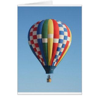 Hete multicolored luchtballon wenskaart