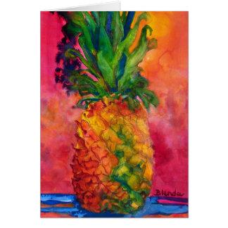 Hete Roze Ananas Kaart
