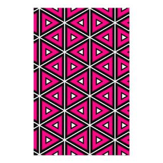 Hete roze driehoeken briefpapier