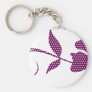 hete roze driehoeken sleutelhanger
