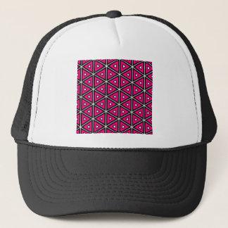 Hete roze driehoeken trucker pet