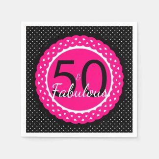 Hete Roze en Zwarte 50 & de Fabelachtige Partij Wegwerp Servet