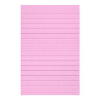 Hete roze facultatieve lijnkantoorbehoeften briefpapier