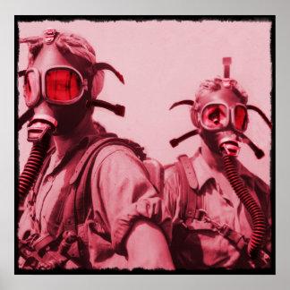 Hete Roze Gasmaskers Poster