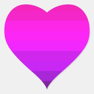 Hete Roze Gestreept Fuschia Hart Sticker