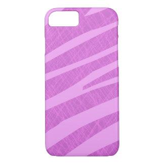 Hete Roze Gestreepte Strepen en Krassen iPhone 8/7 Hoesje
