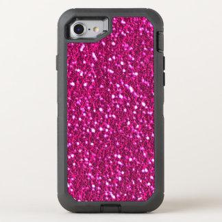 Hete Roze Sparkly schittert Blik Bling OtterBox Defender iPhone 8/7 Hoesje