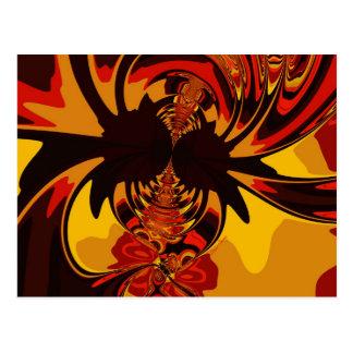 Hevig - Amber & Oranje Schepsel Briefkaart