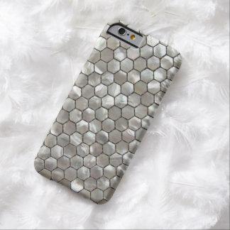 Hexagon Moeder van Parels betegelt Patronen Barely There iPhone 6 Hoesje