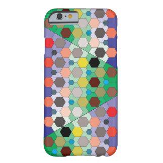 Hexagon Mozaïek van de Kleur Barely There iPhone 6 Hoesje