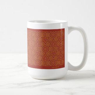 Hexagon Tegel van het Terracotta kijkt Mok