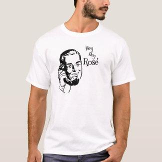 Hey Hey nam Man met Zwarte Teksten toe T Shirt