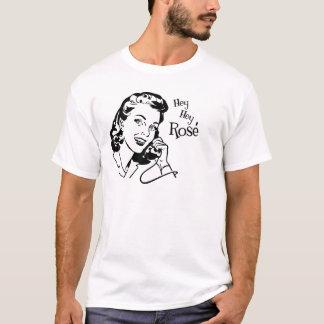 Hey Hey nam Vrouw met Zwarte Teksten toe T Shirt