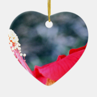 Hibiscus 4 keramisch hart ornament