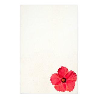 Hibiscus - Gepersonaliseerde Tropische Hete Roze Briefpapier