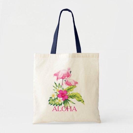 Hibiscus & het Roze Tropische Ontwerp van Draagtas