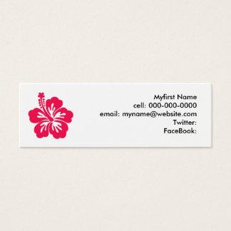 Hibiscus Mini Visitekaartjes