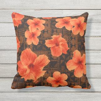 Hibiscus van Tapa van Kalalau de Tropische Buitenkussen
