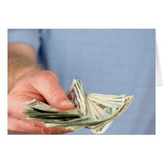 Hier is Wat Geld Wenskaart