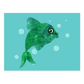 Hier Vis Briefkaart