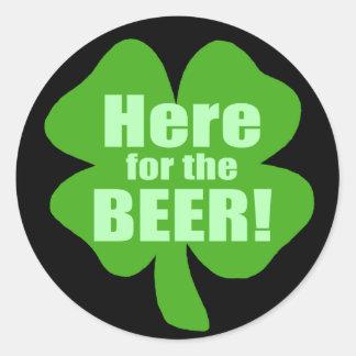 Hier voor het Bier Ronde Sticker