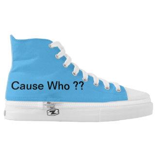 hightops schoenen met ISSA wat, Oorzaak die