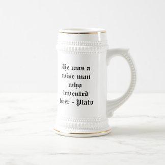 Hij was een wijze die bier - Plato uitvond Bierpul