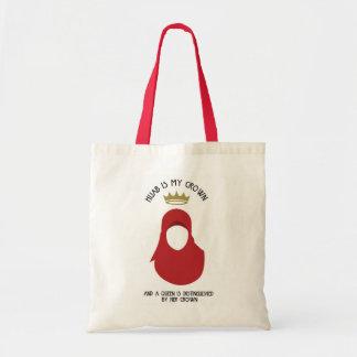 Hijab is mijn kroon - HIJAB - ANONIEM ROOD - Draagtas