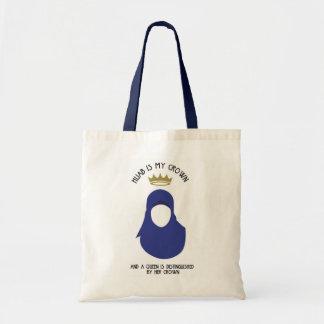 Hijab is mijn kroon - HIJAB - ANONIEME BLU - Draagtas