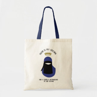 Hijab is mijn kroon - NIQAB - ANONIEME BLU - Draagtas