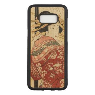 Hikeyotsu geen yoru geen ame (Vintage Japanse Carved Samsung Galaxy S8+ Hoesje