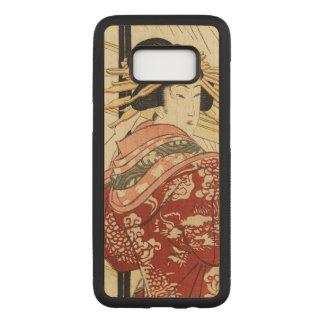 Hikeyotsu geen yoru geen ame (Vintage Japanse Carved Samsung Galaxy S8 Hoesje